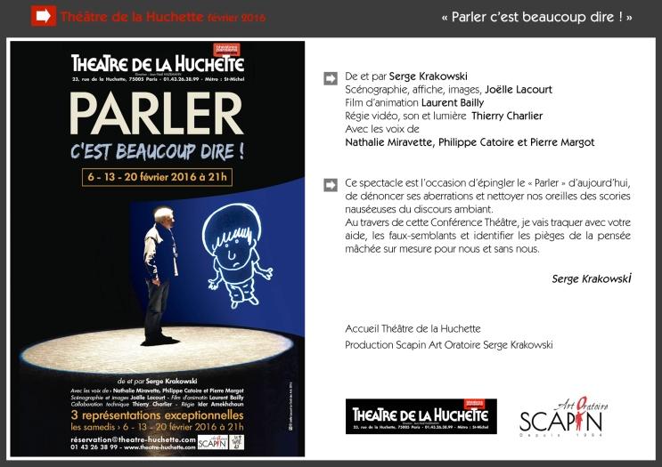 Dossier de présentation Théâtre de la Huchette 2016